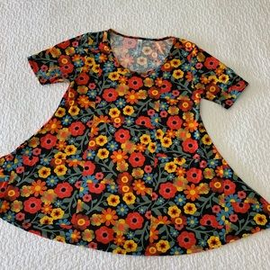 LuLaRoe Floral Perfect Tee Top